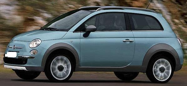 Spaccer Verhogingsset Verhogingskit Fiat 500 Kombi Verhogen